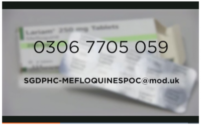 UK Hotline Set Up For Those Worried Of Lariam Poisoning